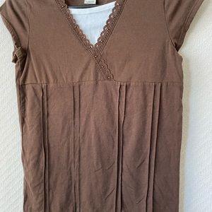 Cherokee Brown Short-Sleeve Top Girls Size L